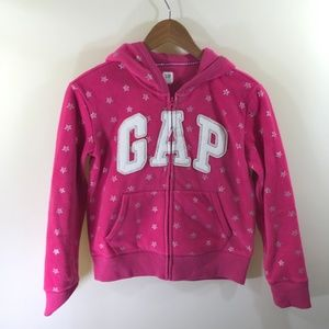 GAP Pink Felted Zip Up Hoodie Size 14-16